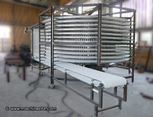 Спирален конвейр за охлаждане на вафлени блатове