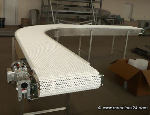 90° conveyor with a module belt