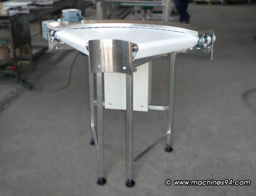 90-градусов завой с малка ширина на лентата (400 mm)